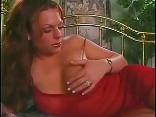 Tranny with a perfect body drills a naked chap