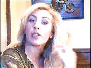 Blonde tranny sucks before anal ramming