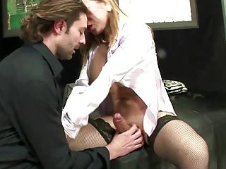 Amateur act with a tranny in stockings