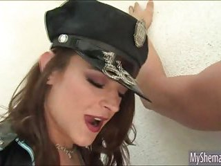 TS police Kimberly analed by her captive