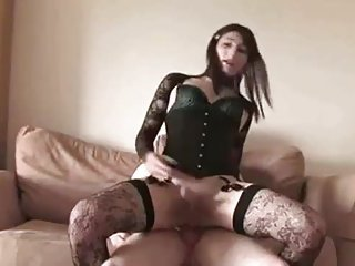 Huge dick for a crossdrssers ass and mouth