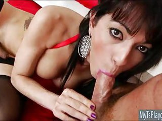 Horny TS Nicole Fernandes anal assault