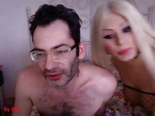 Titty TS sucks by webcam