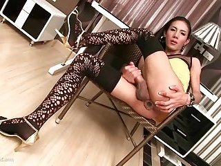 Sex toy for a lonely ladyboy