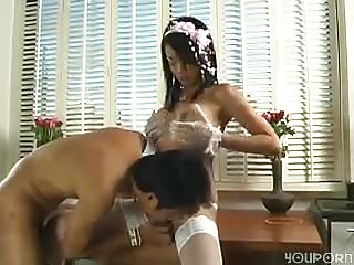 Beautiful Asian Tranny fucks guy