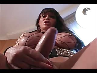 Titty Brunette Shemale Solo Masturbation