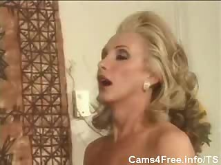 Wet pussy for a mature tranny chick
