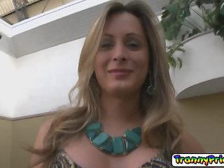 Cock hungry tranny with her big tits Fernanda Zocal gets assfucked