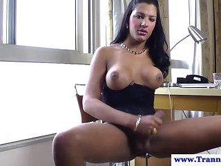 Stefane Marinho ass fingered while wanking