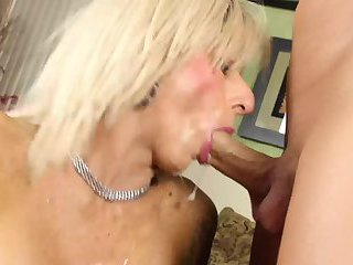 Robbi Racks drools all over while sucking ChristianXXX hard cock