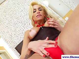 Shemale TS Samanta Paganelli enjoying masturbation session