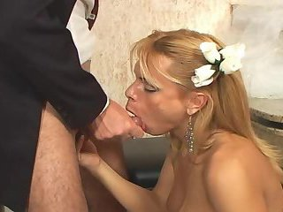 Tranny bride sex after wedding