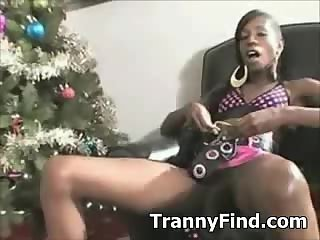 Big black cock tranny solo