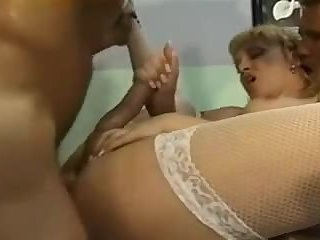 Tranny Patient Fucks with Two Guys