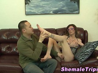 Tgirl creams fetish mouth