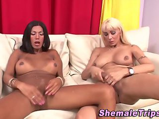 Shemales slam and jizz