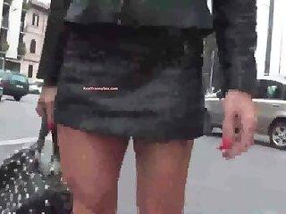 Сrossdresser boots public