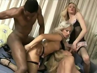 Mad interracial fucking orgy with sexy tgirls