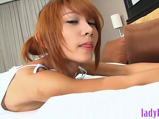 Teenage ladyboy blowjob and fucking with her boyfriend