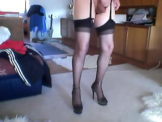 See sissy Isabella cumming in hot lingerie