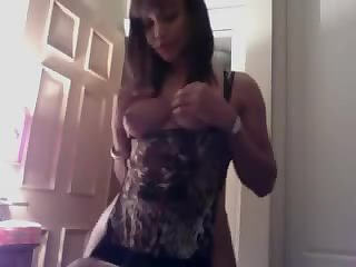 Shemale fucks a guy and herself at the same time