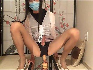 Liri's anal orgasm & twitch (pantyhose)