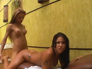 Monica Mattos and Mylena Bysmark - Shemale fuck girl act