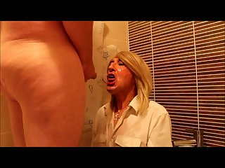 Hot Hazel from Scotland swallows a load