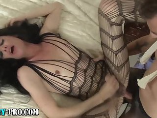 Fetish pro tgirl spunked