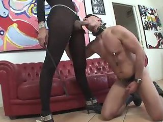 Shemale Anna Richman Uses Her Cock Slave