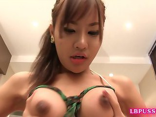 Post-Op Ladyboy Chimi Toying and Getting Fucked