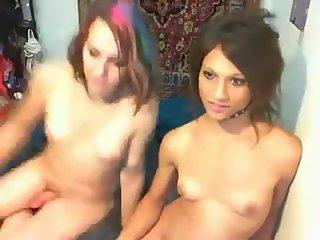 Teen Tgirls mad fucking on webcam