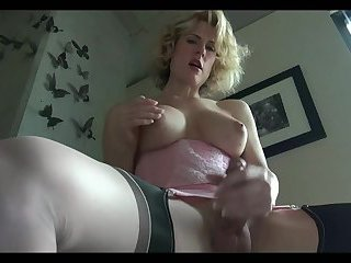 Sexy Blonde Shemale Masturbation & Solo
