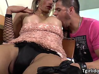 Shemale Leticia fucks her bfs ass