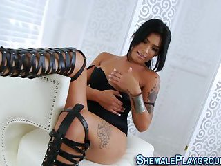 Latina shemale tugging
