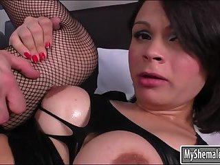 Booby TS Gabriella Andrade anal rammed