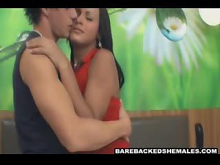 Lovely Nasty Shemale Making Oral Sex on her Partner