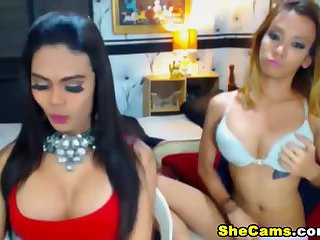 Hot Shemales Enjoy Masturbating on Cam