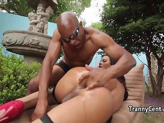 Black guy nailed shemale ass hole