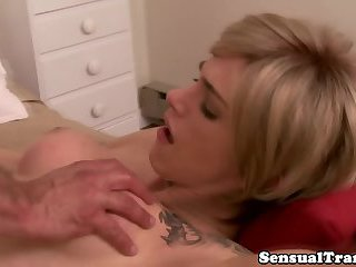 Shemale wife intensely analfucked by lover