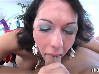 Seductive tgirl Danika Dreamz fucked and mouth jizz loaded