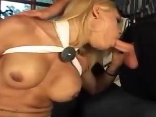 Gorgeous Blonde Shemale Fucking