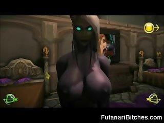 3D Futanari Warcraft!