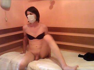 Slim Crossdresser Sofie Fucks with a Dildo