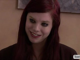 Redhead shemale Chelsea goes on a romantic affiar with a milf