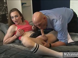 Sexy shemale Jacqueline Woods ass banged