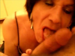 Lara CD getting mouth fucked