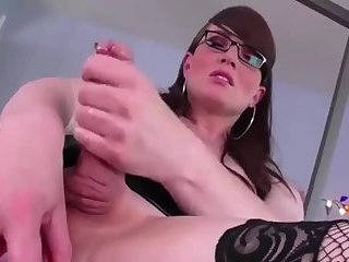 Nathale With Her Red Dildo
