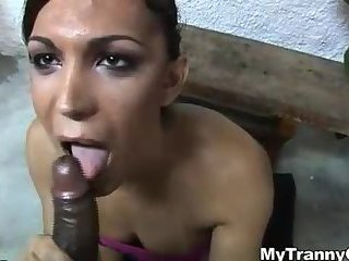 Voluptuous brunette gets thunderous black cock