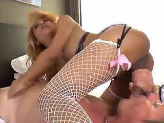 Guy Fucking Big Cock Blonde TS